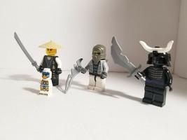 Lego Lot of 4 NINJAGO MINIFIGURE Sensei Warriors Ninja Mini Guys Weapon ... - $19.94