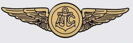 "NAVY AIRCREW AC GOLD WINGS 6"" WINDOW STICKER CAR DECAL - $18.04"