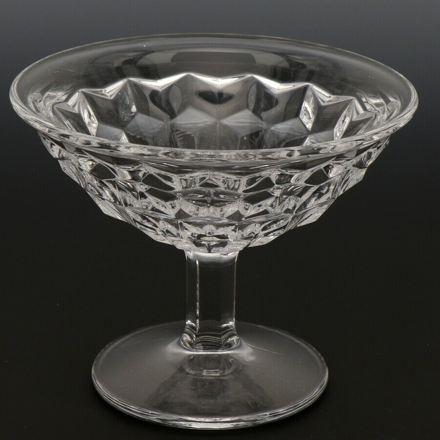 Fostoria American Crystal Goblet 5 OZ Low Sherbet Flared