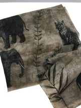 Safari African Animal Sheer Fabric Elephant Tiger Craft Skirt Scarf Shaw... - $19.75