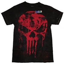 MARVEL COMICS THE PUNISHER MENS SMALL BLACK RED T-SHIRT NEW - $14.99