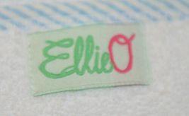 EllieO Seersucker Bib And Burp Cloth Set White With Blue Striped Trim image 6