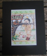 "Mary Engelbreit Print Matted 8 x 10"" ""Simple Words""  Boy - $16.40"