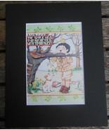 "Mary Engelbreit Print Matted 8 x 10"" ""Simple Words""  Boy - $16.40"