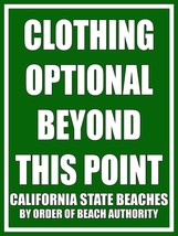 Clothing Optional Beyond This Point - $19.95