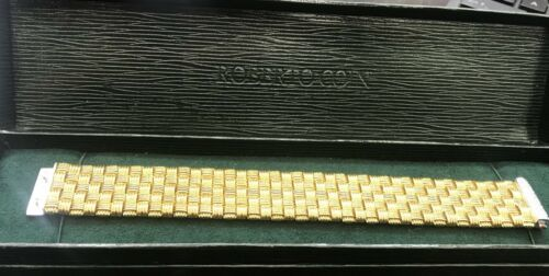 Roberto Coin 18Kt 5-Row Yellow Gold Appassionata Diamond Bracelet .39Ct image 6