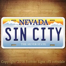 Sin City Nevada City/State/College Vanity Aluminum License Plate Tag - $12.82