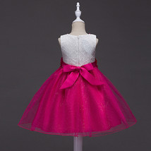 Fuchsia Tulle Short Children Dress With Floral Wedding Flower Girls Dres... - $41.25