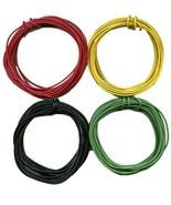 40'- 10' ea. Black GREEN YELLOW RED 22 Gauge Stranded Wire Standard Gaug... - $13.99