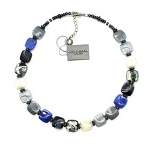NECKLACE ANTICA MURRINA VENEZIA WITH MURANO GLASS BLUE SILVER BLACK CO988A06 image 2