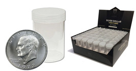 12 Max Pro Premium Dollar Round Clear Coin Tubes - Brand New - $6.00