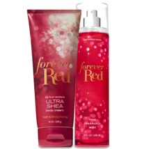 BATH & BODY WORKS Forever Red Body Cream + Fine Fragrance Mist Set - $28.48
