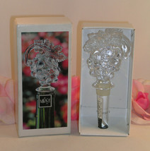 New in Box Mikasa Crystal Wine Bottle Stopper Fruit Collection Grapes Vi... - $19.99