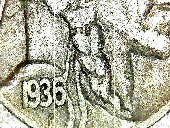 Buffalo Nickel 1936 P, 1936 D and 1936 S  AA20BN-CN6093