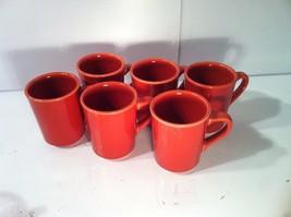 (6)  HOMER LAUGHLIN-- RESTAURANT--COFFEE / TEA MUG--RUST---USA--SHIPS FR... - $26.93