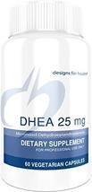 Designs for Health - DHEA - 25mg, Balance + Energy Support for Men and Women, 60