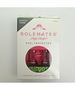 SoleMates High Heeler Clear Heel Protectors Stoppers Narrow Size. Clear - $4.50