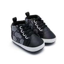 Black Boys First Walking Shoes Soft Bottom Toddlers Shoes 0-18 Months Ba... - $16.99
