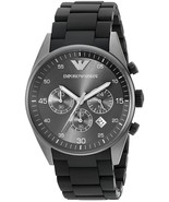 Emporio Armani Sportivo AR5889 Black Silicone Wrist Watch for Men - $93.90