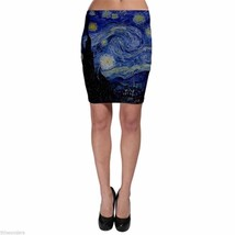 VINCENT VAN GOGH STARRY NIGHT Bodycon Skirt XS S M L XL XXL XXXL - $11.36+