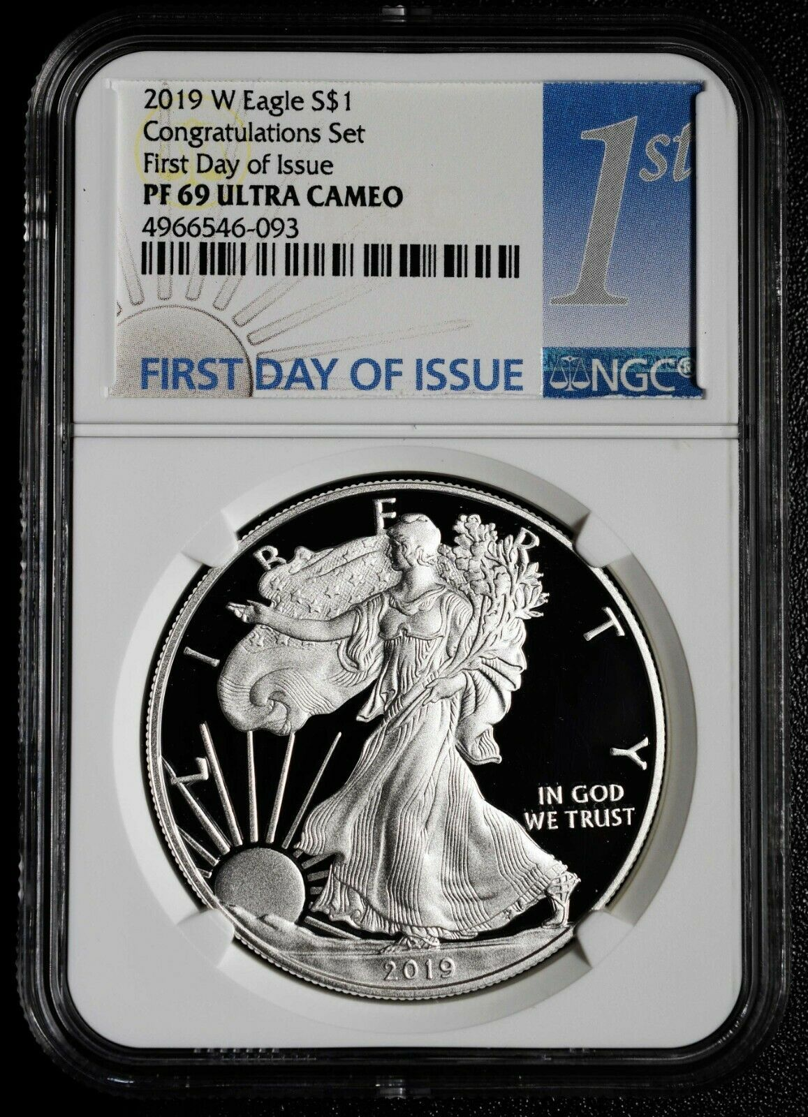 2019 W Congratulations Set Silver Eagle NGC PF69 Coin First Day Proof SKU C69