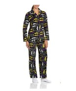 Womens Batman Long Sleeve Micro Fleece Notched PJ Pajama Set Large XL 2XL  - $29.99