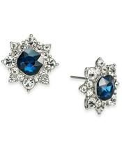 "Charter Club 2/3rd"" Silver-Tone Crystal Flower Stud Earrings $24 - $12.73"