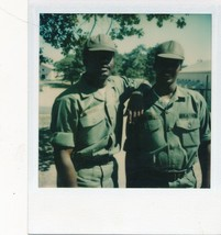 M20 Vintage Polaroid Photo African American Army Guys on Base 1980's Ger... - $4.95