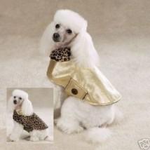 Zack & Zoey Dog's The Goldie Coat Reversible Leopard Gold Dog Coat XXS/L... - $6.95