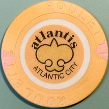 Roulette Casino Chip. Atlantis, Atlantic City, NJ. W23. - $4.29