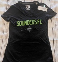 LZ ADIDAS Women's Small Seattle Sounders FC Socer T-Shirt Shirt Top Top ... - $13.99
