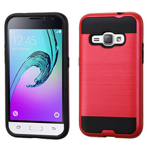 Brushed Matte Hybrid Armor Cover Case for Samsung Galaxy J1 2016 /  Amp ... - $4.99