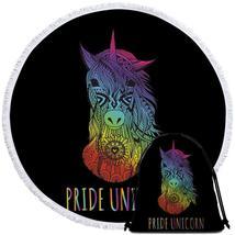 Pride Unicorn Beach Towel - $12.32+
