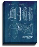 Preparing Cigar Wrappers Patent Print Midnight Blue on Canvas - $39.95 - $159.95