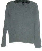 Women's Gray Cotton Top Size S Gap - $5.00