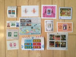 G61 Lot of Panama Bermuda Cayman Cook Haiti Costa Rica Antigua Stamp Sou... - $11.63