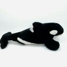 "Shamu Orca Killer Whale Plush Stuffed Animal 15"" Long Soft Black White  - $16.82"