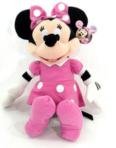 Clubhouse MINNIE MOUSE Soft PLUSH DOLL Toy LARGE PINK Gift Licensed DISNEY - $16.99