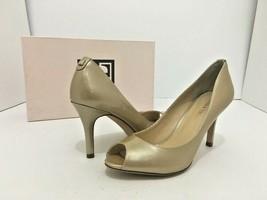 Ivanka Trump Cleo Light Natural Patent Women's Peep Toe High Heels Pumps US 6.5 - $33.66