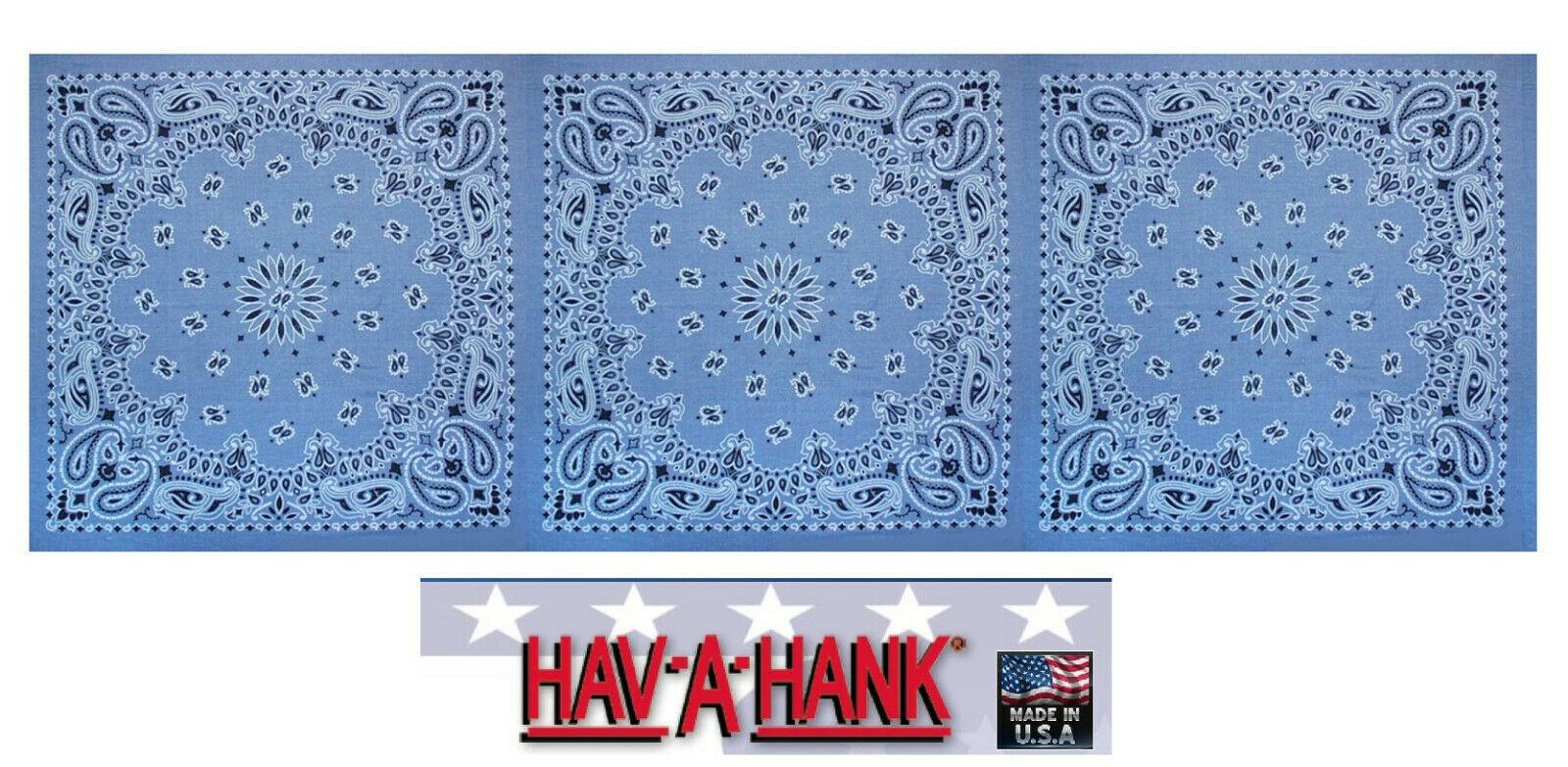 USA MADE HAV-A-HANK PAISLEY BANDANA HEAD Neck Wrap Hanky Scarve Handkerchief Cap