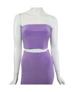 Fashion Nova Purple Skirt Set Size Medium Bodycon Tube Top - $29.99
