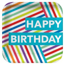 Contemporary Happy Birthday Tableware (Plates Napkins Table Covers) - €18,71 EUR+