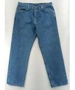 Wrangler Premium Quality Regular Fit Jeans Men's 38x30 Med Blue with tem... - $12.30