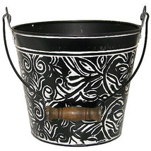"12"" Charcoal Floral Planter - ₨2,500.72 INR"