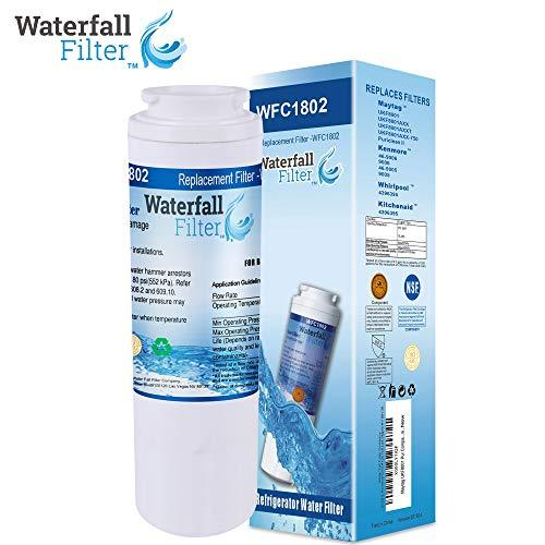 Waterfall Filter - Refrigerator Water Filter Compatible with Maytag UKF8001