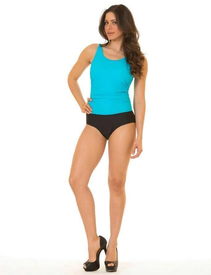 NEW COCO LIMON WOMEN'S TWO TONE BATHING SUIT ONE PIECE BLUE/BLACK SIZE 14