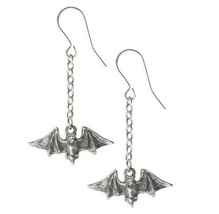 Kiss of the Night Flying Vampire Bat Dangling Earrings Pair Alchemy Goth... - $13.95