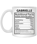 Personalized Cup for Him, Her - Gabrielle Nutritional Facts - Customized... - $16.78