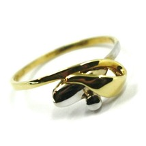18K YELLOW WHITE GOLD INFINITE CENTRAL RING, INFINITY, BRAIDED, KNOT, BOW image 1