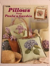 Leisure Arts Pillows From Paula's Garden Counted Cross Stitch Pattern Book3493 - $11.87